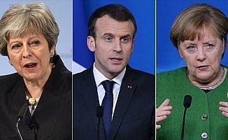 May, Macron ve Merkel İran'ı görüştü