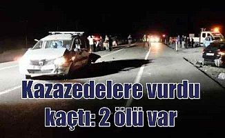 Niğde Ulukışla'da çifte kaza; Kazazedelere vurdu kaçtı