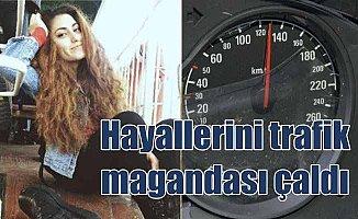Otostopçu genç kız 130 KM hızla takla atan aracın içinde can verdi