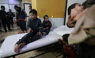 Suriye Türkmenlerinden Doğu Guta'daki kimyasal silah saldırısına tepki