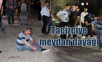 Tacizciye vatandaşlardan meydan dayağı: Polis kurtardı
