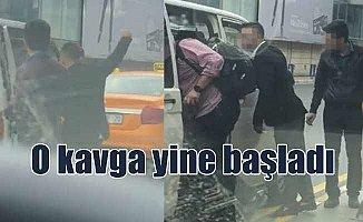 Taksiciler UBER aracına tekme tokat saldırdı