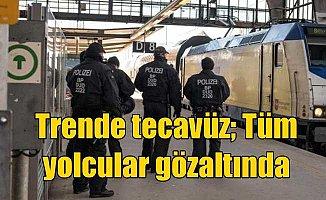 Trende iğrenç tecavüz; Tüm yolcular gözaltına alındı