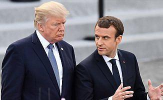 Trump Macron ile Suriye'yi görüştü