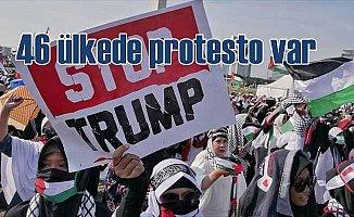 ABD'nin Kudüs kararına 46 ülkede protesto