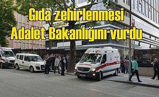 Adalet Bakanlığı'nda gıda zehirlenmesi: 100 çalışan hastanelik oldu