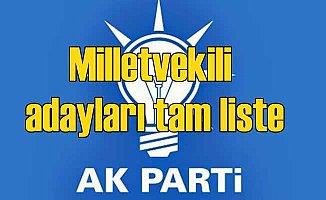 AK Parti milletvekili adayları tam liste| Seçim 2018