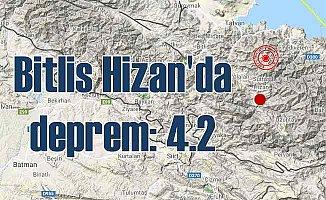 Bitlis'te deprem oldu | Bitlis Hizan 4.2 ile sallandı