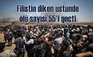Filistin'de son durum; Ölü sayısı 55'i geçti