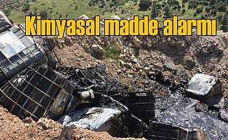 Gaziantep Nurdağı'nda kimyasal madde alarmı