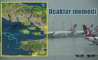 İstanbul'da elektrikli bulutlar uçaklara tur attırdı