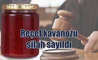 Mahkeme reçel kavanozunu silah saydı