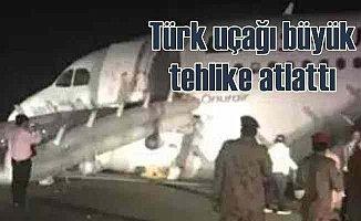 Türk uçağı S. Arabistan'da büyük tehlike atlattı