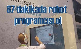 87 dakikada robot programcısı olmak mümkün