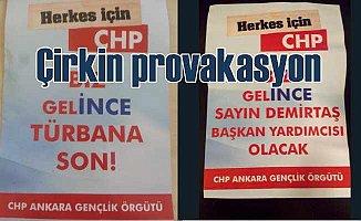 Ankara'da CHP adına sahte broşürler basıp dağıttılar