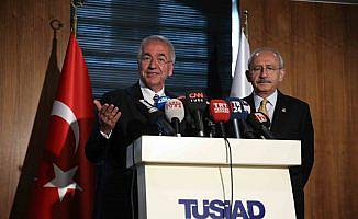 CHP Genel Başkanı Kılıçdaroğlu, TÜSİAD'ı ziyaret etti