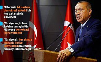 Erdoğan: Türkiye tüm dünyaya demokrasi dersi vermiştir