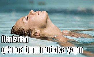Denizden çıktıktan sonra kulaklarınızı ıslak bırakmayın