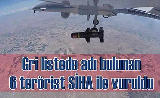 Gri listede yer alan teröristler SİHA ile vuruldu