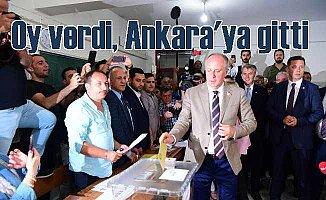 İnce Yalova'da oyunu kullandı, Ankara'ya gitti