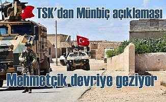 Son Dakika Münbiç | TSK açıkladı Münbiç'te Mehmetçik devriye geziyor