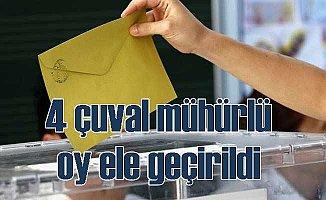 Suruç'ta 4 çuval mühürlü oy pusulası ele geçilirdi