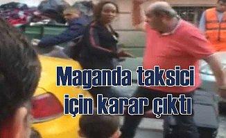 Turistin valizini atan taksici maganda meslekten atıldı