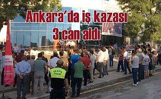 Ankara Etimesgut'ta binanın giriş katında göçük, 3 ölü var