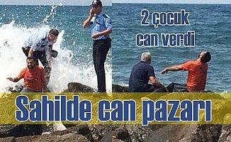 Denize giren 3 çocuk kayboldu, 2'sinin cansız bedeni bulundu