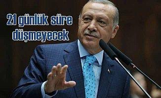 Erdoğan'dan 21 günlük bedelli askerlik açıklaması; Süre düşmeyecek