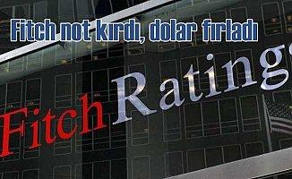 Fitch kredi notunu düşürdü dolar fırladı