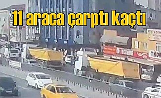 Hafriyat kamyonu yollarda terör havası estirdi