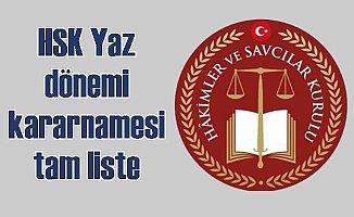 HSK Yaz Kararnamesi tam liste; HSK Yaz dönemi kararnamesi yayınlandı
