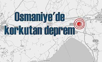 Osmaniye'de deprem; Osmaniye 4.1 ile sallandı