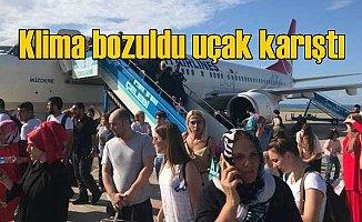 Trabzon Ankara uçağında klima krizi: Yolcular patladı