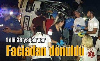 Bursa'da öğrenci otobüsü faciadan döndü, 1 ölü 38 yaralı var