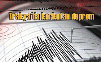 Keşan'da korkutan deprem: Keşan 3.7  ile sallandı