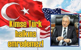 Palandöken: Türk Halkına Kimse Emredemez