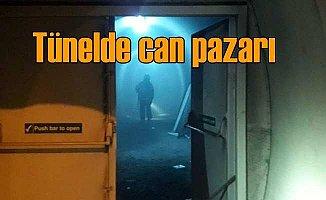 Tünelde yangın dehşeti; Vatandaşlar yaşam odasına sığındı