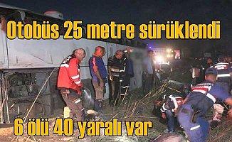 Aksaray'da feci kaza; 6 ölü 40 yaralı var