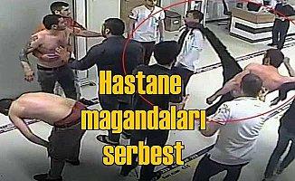 Doktora hastanede uçan tekme: Saldırganlar serbest