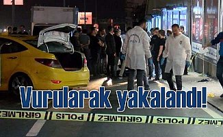 Gaspçı dehşeti; Taksiciyi gasp eden adamı vurularak yakalandı