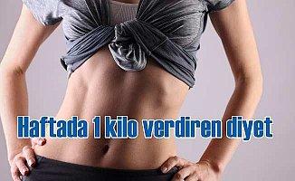 Haftada 1 kilo verdiren sağlıklı diyet!