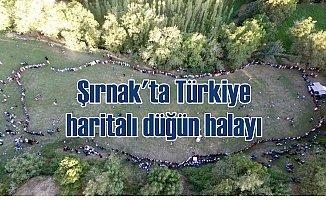 Şırnak'ta Türkiye haritalı düğün halayı