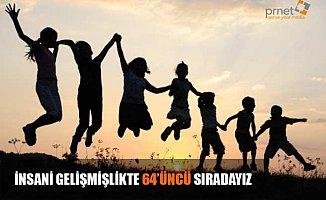 Türkiye insani gelişmişlikte 64. sıraya yerleşti