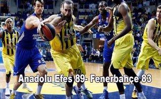 Anadolu Efes, Fenerbahçe'yi 16 sayı geriden gelerek yendi