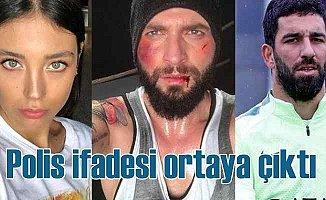Arda Turan, polise ifade veriyor