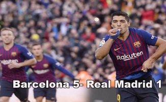 Barcelona, Real Madrid'i bozguna uğrattı