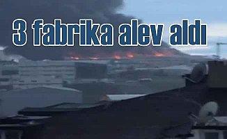 Esenyurt'ta fabrika yangını; Alevler 3 fabrikayı sardı