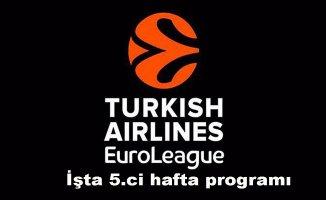 Takımlarımız THY Euroleague'in 5. haftası maçlarında